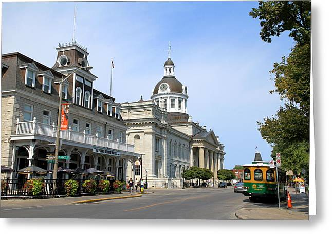 Downtown Kingston Greeting Card by Valentino Visentini