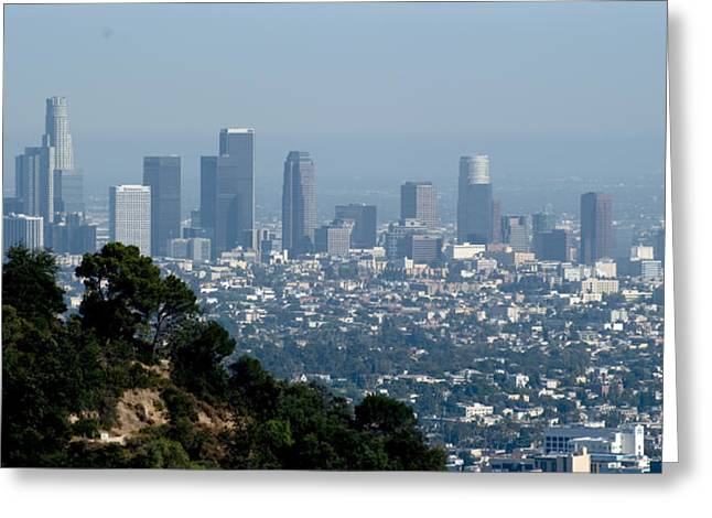 Down Town Los Angeles Greeting Cards - Downtown LA Greeting Card by Malania Hammer