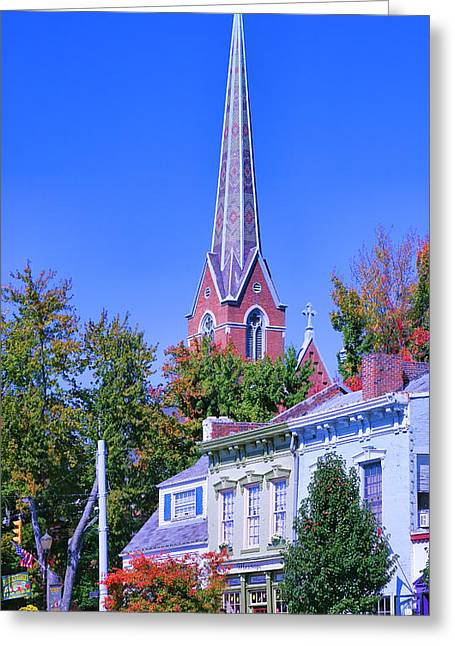 Spire Framed Prints Greeting Cards - Downtown Madison II Greeting Card by Steven Ainsworth