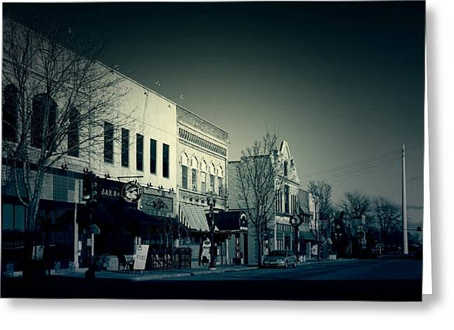 Menasha Greeting Cards - Downtown Menasha Greeting Card by Joel Witmeyer