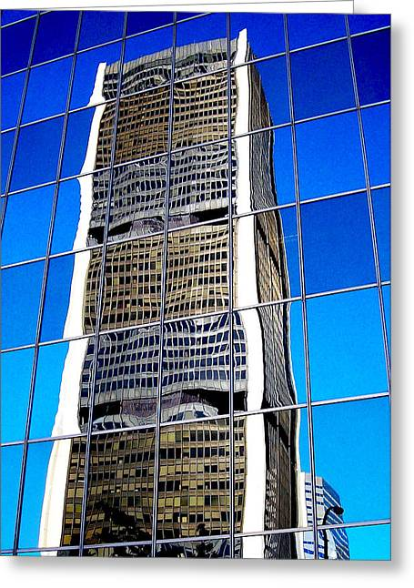 Fenster Photographs Greeting Cards - Downtown Montreal Greeting Card by Juergen Weiss