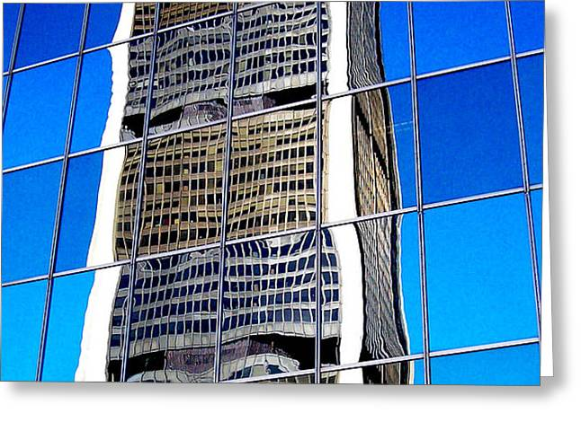 Downtown Montreal Greeting Card by Juergen Weiss