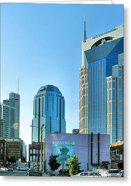 Photogaphy Greeting Cards - Downtown Nashville II Greeting Card by Steven Ainsworth
