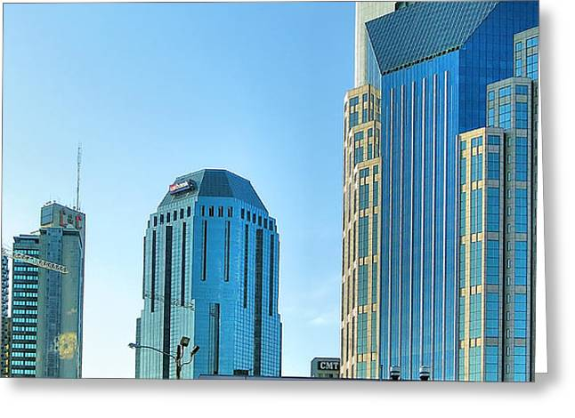 Downtown Nashville II Greeting Card by Steven Ainsworth