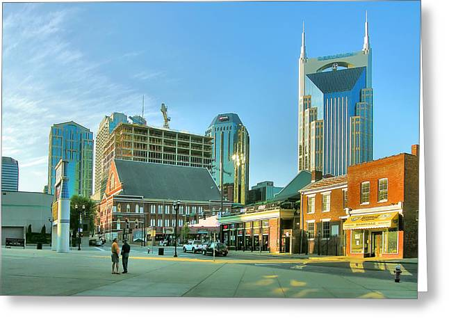 Nashville Tennessee Greeting Cards - Downtown Nashville III Greeting Card by Steven Ainsworth