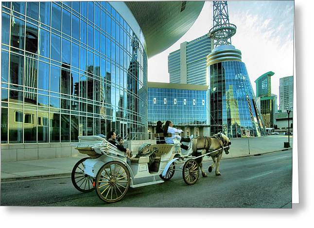 Photogaphy Greeting Cards - Downtown Nashville IV Greeting Card by Steven Ainsworth
