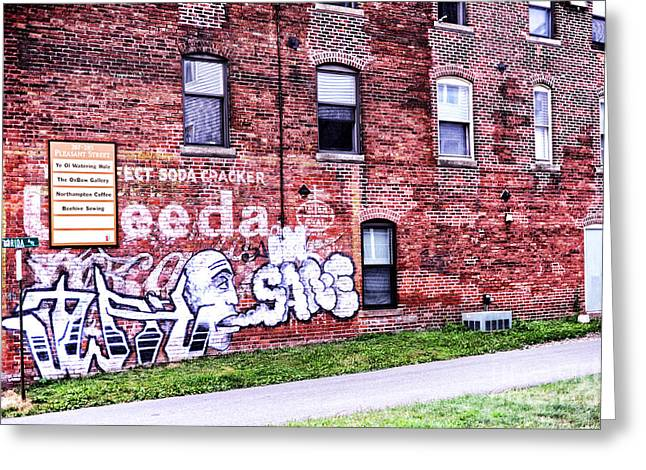 Wall Street Greeting Cards - Downtown Northampton - Florida Ave Greeting Card by HD Connelly