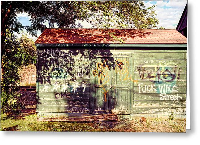 Red Roof Photographs Greeting Cards - Downtown Northampton - Graffiti Greeting Card by HD Connelly