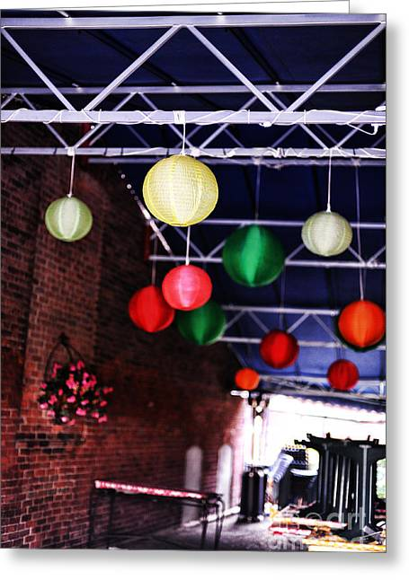 Northampton Greeting Cards - Downtown Northampton - Lanterns Greeting Card by HD Connelly