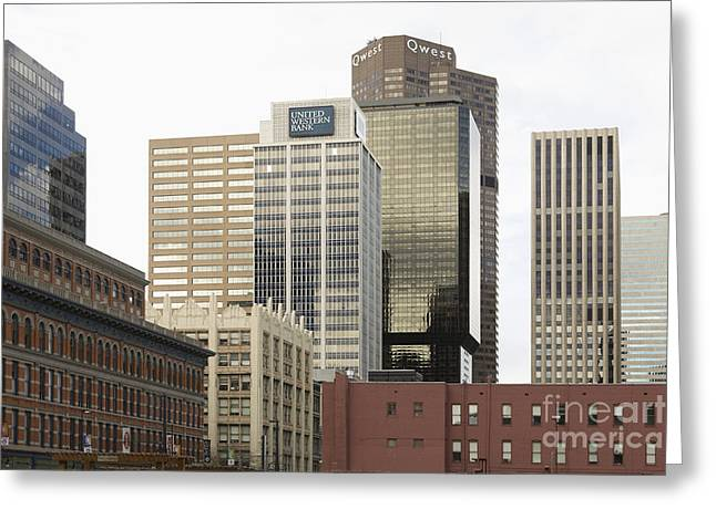 Office Space Photographs Greeting Cards - Downtown Office Buildings Greeting Card by Roberto Westbrook