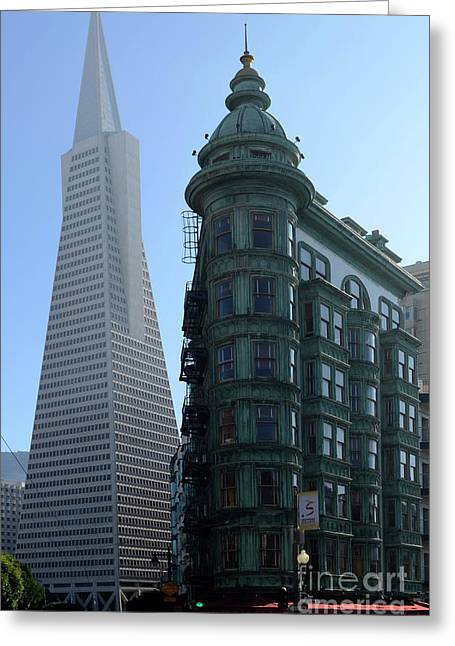Downtown San Francisco Greeting Cards - Downtown San Francisco 2 Greeting Card by Bob Christopher