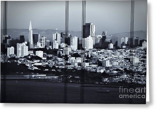 Sfo Greeting Cards - Downtown San Francisco Greeting Card by Doug Sturgess