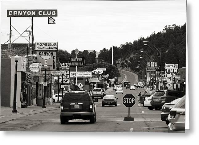 William Street Greeting Cards - Downtown Williams Greeting Card by Ricky Barnard
