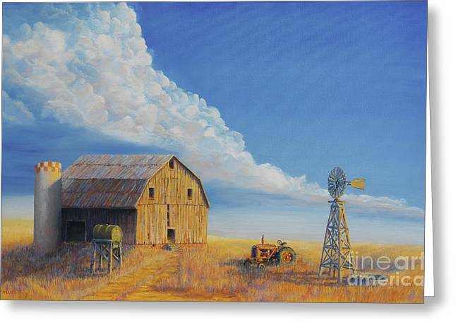 Jerry West Greeting Cards - Downtown Wyoming Greeting Card by Jerry McElroy