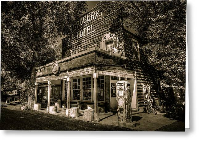 Highway Greeting Cards - Doyle Grocery and Hotel Greeting Card by Scott McGuire