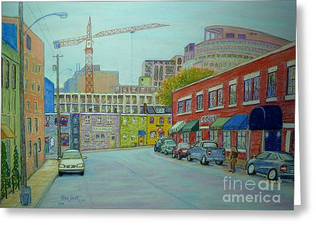 Doyle Street Halifax Greeting Card by Rae  Smith PSC