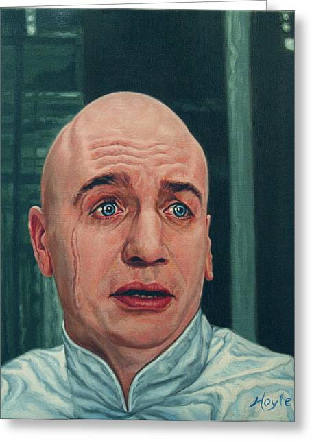Austin Powers Greeting Cards - Dr. Evil  Mike Myers  Greeting Card by Thomas Hoyle