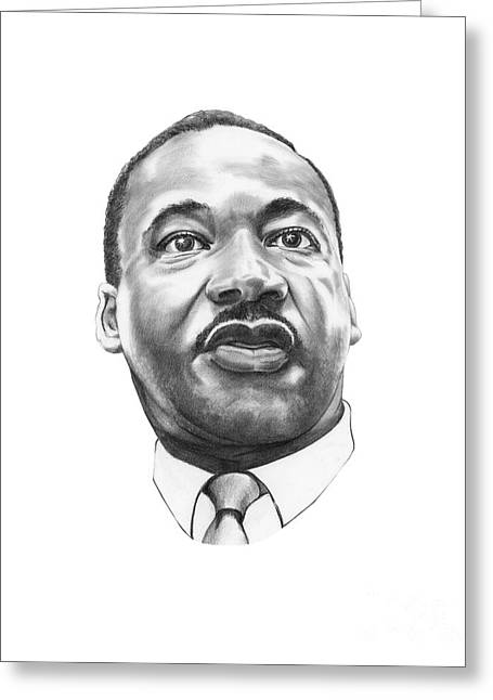Murphy Elliott Greeting Cards - Dr. Martin Luther King Greeting Card by Murphy Elliott