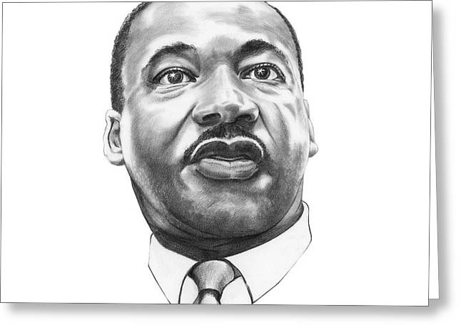 Dr. Martin Luther King Greeting Card by Murphy Elliott