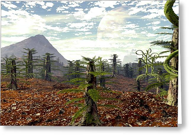 Terragen Greeting Cards - Draco Greeting Card by Napo Bonaparte