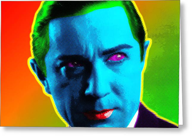 Warhol Art Greeting Cards - Dracula Greeting Card by Gary Grayson