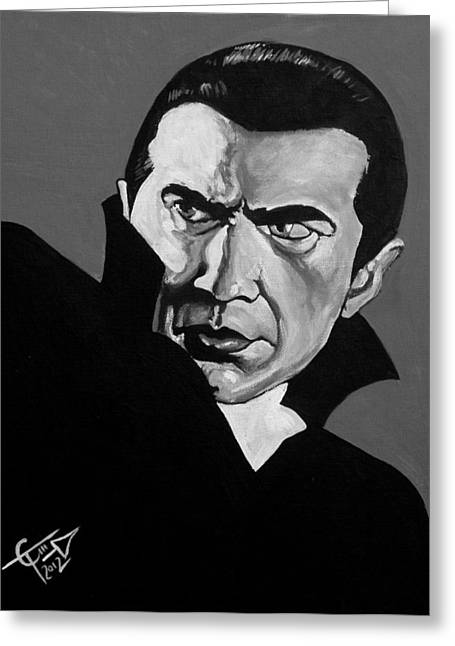 Classic Horror Greeting Cards - Dracula Greeting Card by Tom Carlton