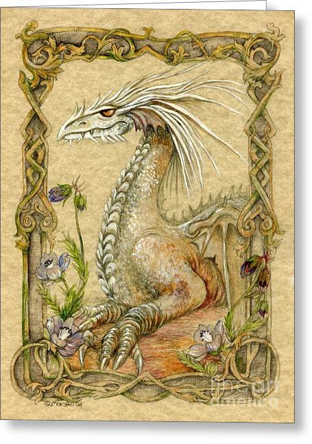 Fantasy Creatures Greeting Cards - Dragon Greeting Card by Morgan Fitzsimons