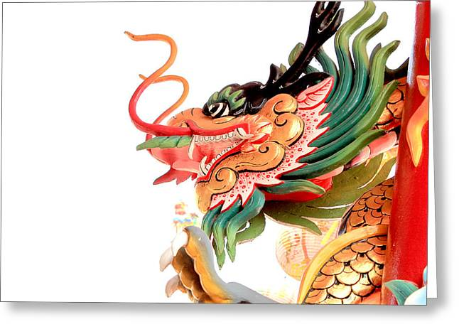 Path Tapestries - Textiles Greeting Cards - Dragon Greeting Card by Panyanon Hankhampa