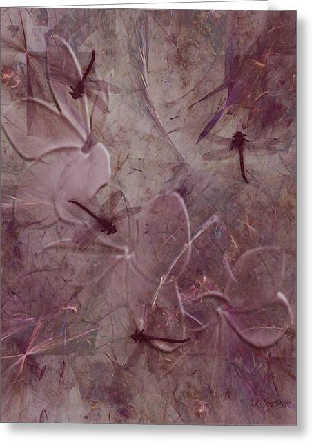 Dragonflies Greeting Cards - Dragonflies Greeting Card by Jean Gugliuzza