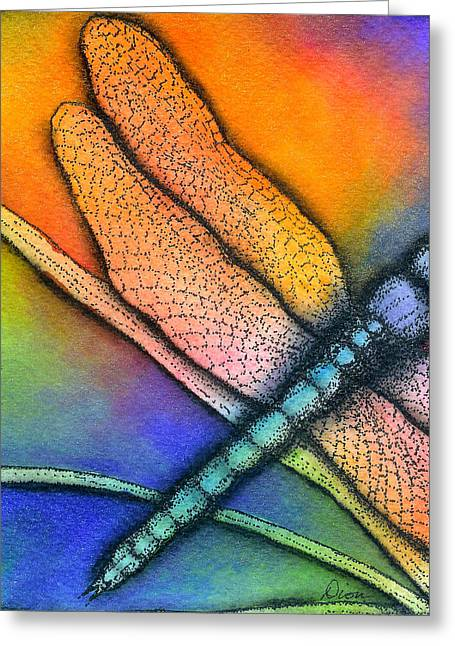 Dragonfly Greeting Card by Dion Dior