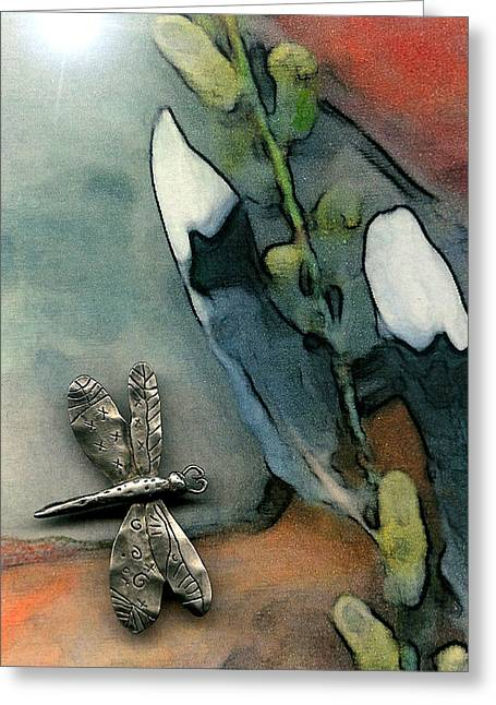 Visionary Artist Greeting Cards - Dragonfly Greeting Card by George  Page
