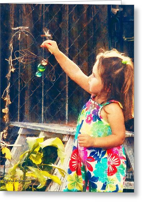 Photoshop Cs5 Greeting Cards - Dragonfly Girl Greeting Card by Rhonda Strickland