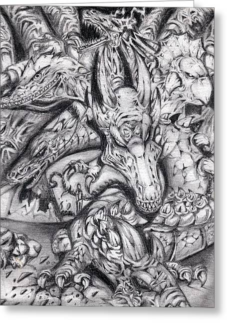 Caves Pastels Greeting Cards - Dragons Greeting Card by Carey Davis