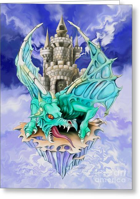 Spano Greeting Cards - Dragons Keep by Spano Greeting Card by Michael Spano