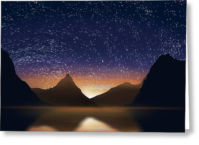 Sunset Abstract Greeting Cards - Dramatic Landscape  Greeting Card by Setsiri Silapasuwanchai