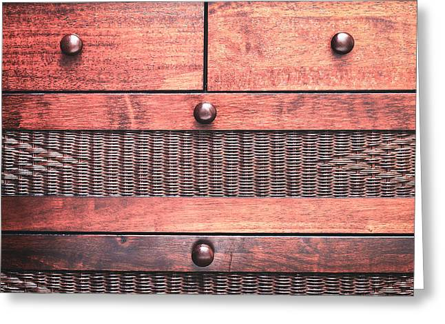 Mahogany Greeting Cards - Drawers Greeting Card by Tom Gowanlock