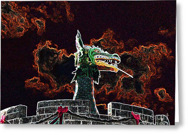 Al Powell Photography Usa Greeting Cards - Dreadful Dragon - Digital Art Greeting Card by Al Powell Photography USA
