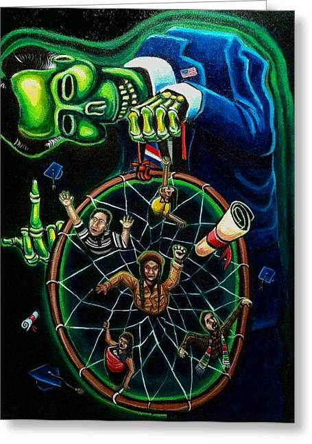 Reform Paintings Greeting Cards - Dream Catcher Greeting Card by Mario Chacon