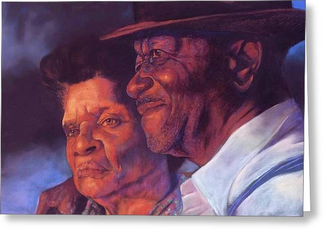 African-american Drawings Greeting Cards - Dream Hold Greeting Card by Curtis James