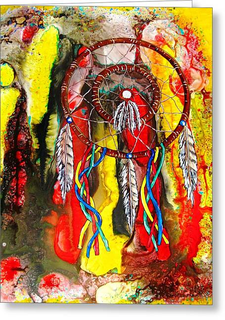 Representative Abstract Mixed Media Greeting Cards - Dream Journey Greeting Card by David Raderstorf