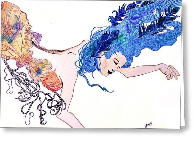 Art Nuveau Greeting Cards - Dream Greeting Card by Lorelei  Marie