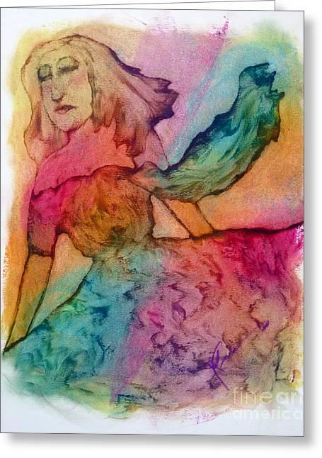 Fushia Paintings Greeting Cards - Dream Spring Greeting Card by Linda May Jones