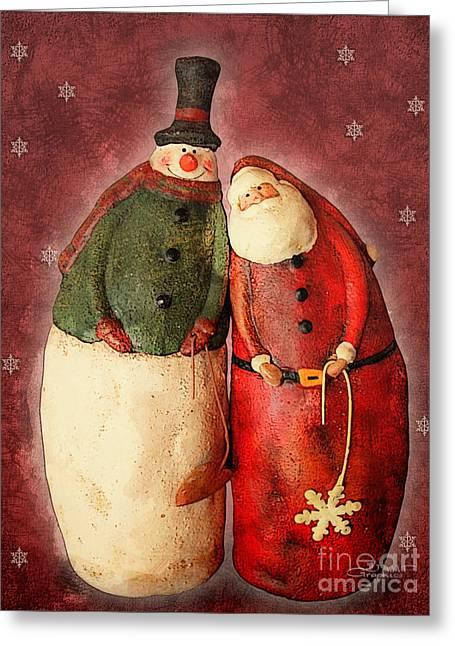 Winter Photos Greeting Cards - Dream Team Greeting Card by Jutta Maria Pusl