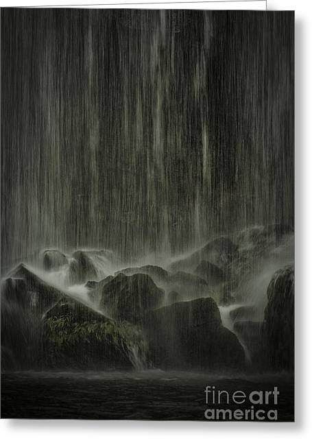 Metal Sheet Greeting Cards - Dream Waterfall Greeting Card by Juan Carlos Vindas