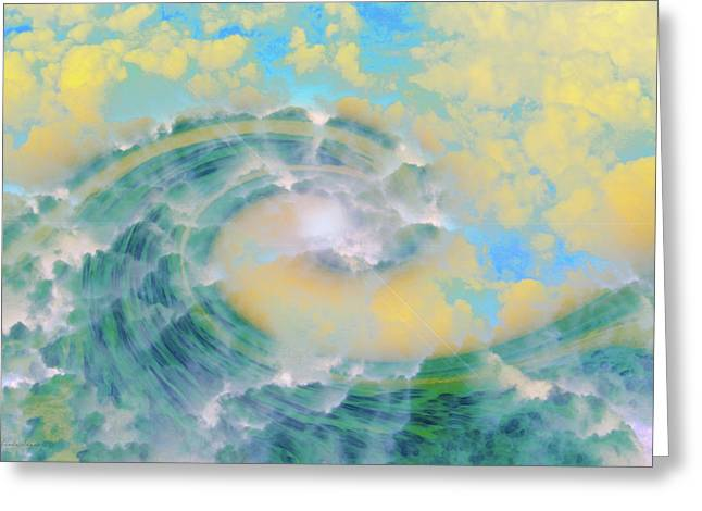 Abtract Greeting Cards - Dream Wave Greeting Card by Linda Sannuti