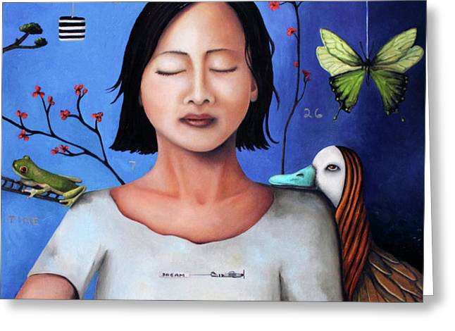 Dream Within A Dream 3 Greeting Card by Leah Saulnier The Painting Maniac