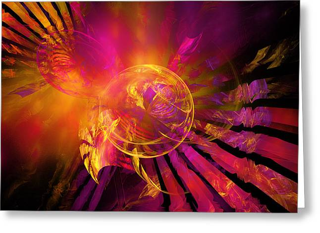 Blended Images Greeting Cards - Dreamcatcher Greeting Card by Ricky Barnard