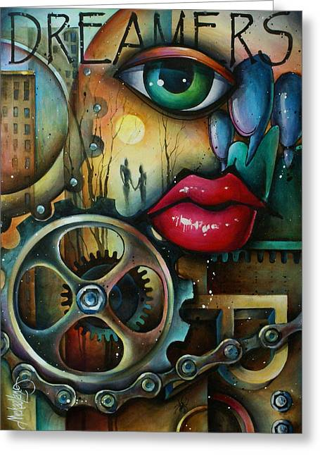 Dreamers 3 Greeting Card by Michael Lang