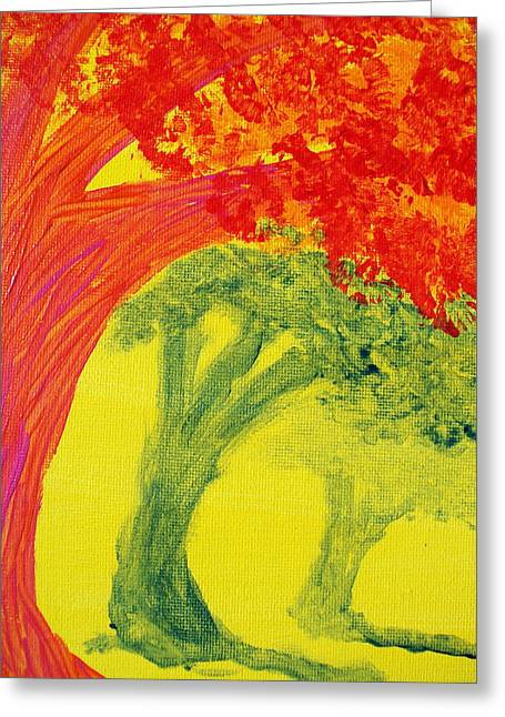 Dave Matthews Paintings Greeting Cards - Dreaming and Shadows Greeting Card by Laurette Escobar