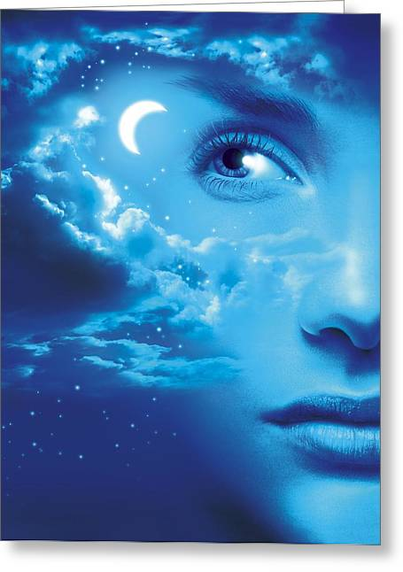 Psychology Photographs Greeting Cards - Dreaming, Conceptual Image Greeting Card by Smetek